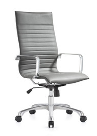 Woodstock Janis High Back Swivel Chair - Gray