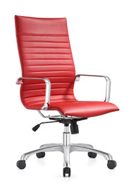 Woodstock Janis High Back Swivel Chair - Red
