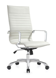 Woodstock Janis High Back Swivel Chair - White