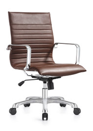 Woodstock Janis Mid Back Swivel Chair - Brown