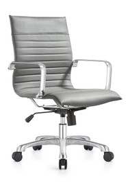 Woodstock Janis Mid Back Swivel Chair - Gray