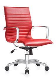Woodstock Janis Mid Back Swivel Chair - Red