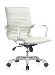 Woodstock Janis Mid Back Swivel Chair - White