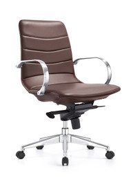 Woodstock Marie Mid Back Task Chair - Chestnut Brown