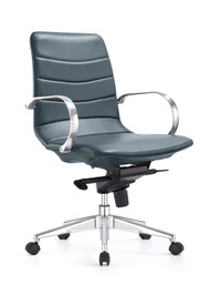 Woodstock Marie Mid Back Task Chair - Charcoal Blue