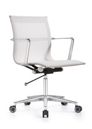 Woodstock Joan Mid Back Chair - White