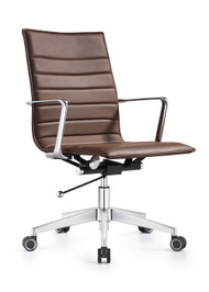 Woodstock Joe Mid Back Chair - Chestnut Brown