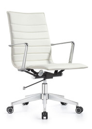 Woodstock Joe Mid Back Chair - Cloud White