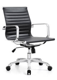 Woodstock Classic Mid Back Chair - Black
