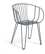 GAR Products Olivo Armchair - Indoor / Outdoor - Black
