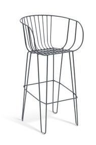 GAR Products Olivo Bar Stool - Indoor / Outdoor - Black