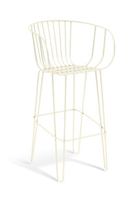 GAR Products Olivo Bar Stool - Indoor / Outdoor - Cream