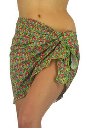 Sarong swimsuit wrap in red Toucan print.