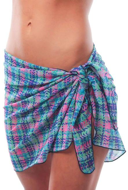 Metro tan through swimwear sarong.