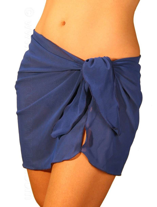 Solid royal blue swimsuit sarong.