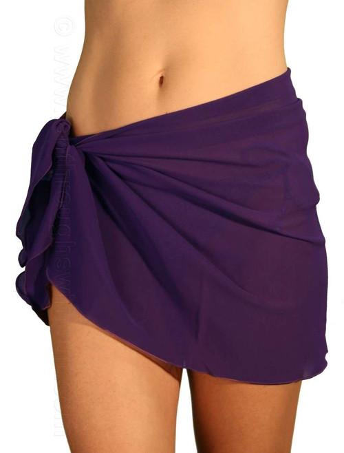 Purple tan through swimsuit sarong.