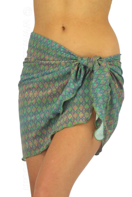 Green Forever swimsuit sarong from Lifestyles Direct Tan Through Swimwear.