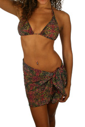 Pink Safari short swimwear sarong on Jordan.