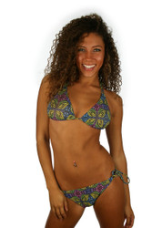 Green Heat from Lifestyles Direct Tan Through Swimwear -- double tie string bikini top.