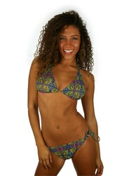 Green Heat from Lifestyles Direct Tan Through Swimwear -- double tie string bikini top.