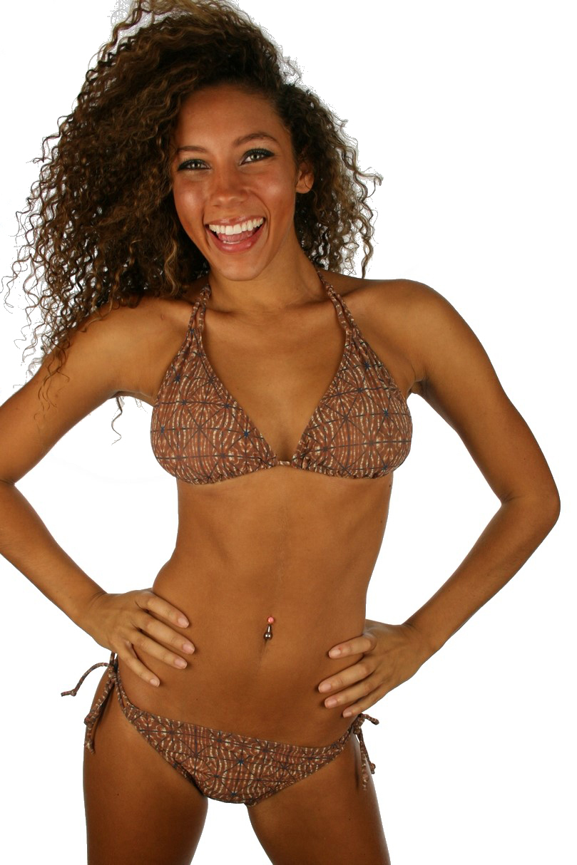f2af65804d543 Tan Through Bikini Double String Top - ET7166 - Lifestyles Direct