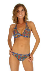 Orange Heat halter bikini top.