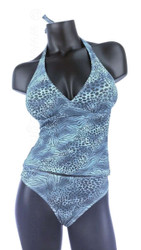 Jungle Heat tankini bikini set.