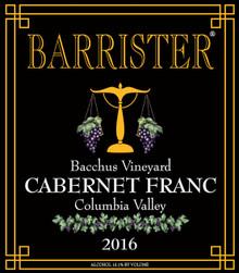 2016 Cabernet Franc, Bacchus Vineyard