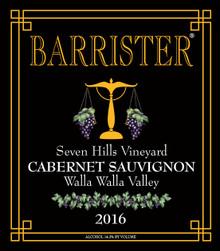 2016 Cabernet Sauvignon, Seven Hills Vineyard