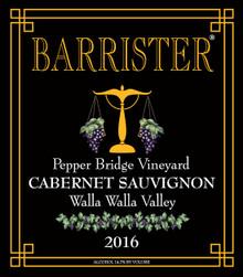2016 Cabernet Sauvignon, Pepper Bridge Vineyard