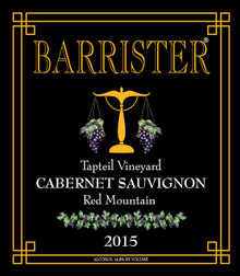 2015 Cabernet Sauvignong, Red Mountain, Tapteil Vineyard