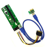 PCI-E 1x to 16X Powered Riser Card w/ 4-Pin MOLEX Power