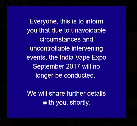 From the Vape Expo India website.