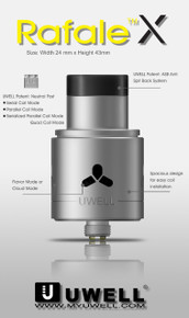 Uwell Rafale X RDA Free Delivery £17.99