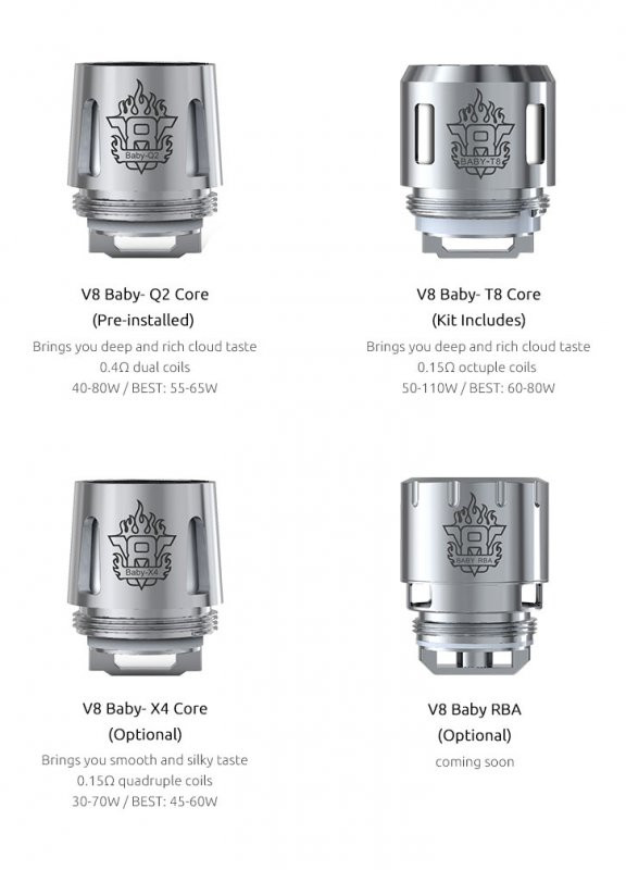 5 Pack Smok Tfv8 Baby Tank Coils 11 89 Replacement Mesh Q2 X4 T6 T8 V10