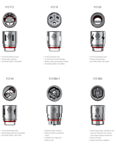3 Pack SMOK TFV12 Cloud Beast King Tank V12 Turbo Coils
