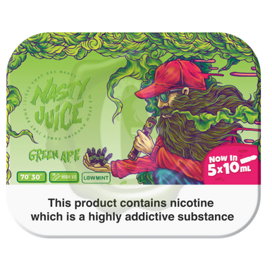 Green Ape Yummy Fruity Series By Nasty Juice 50ml for Only £19.89
