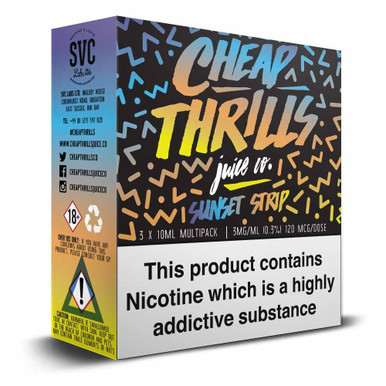 Sunset Strip e liquid By Cheap Thrills Juice Co