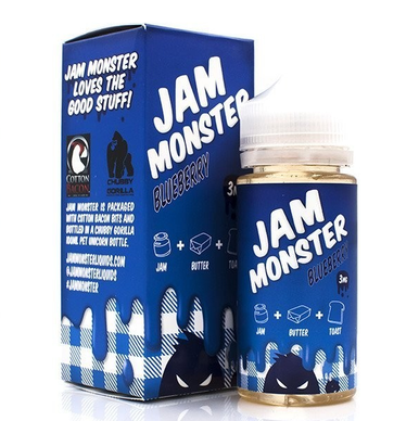 Blueberry Jam Monster Eliquid 100ml by Fresh Juice Co Only (Zero Nicotine & Free Nic Shots)