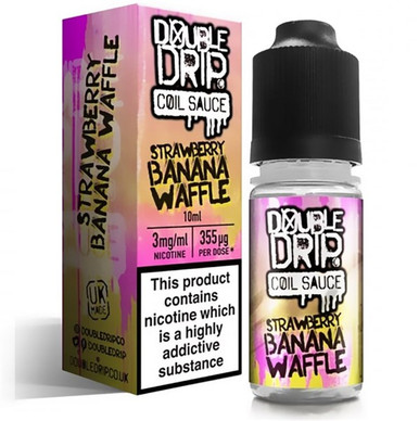 Strawberry Banana Waffle E Liquid By Double Drip Coil Sauce 10ml