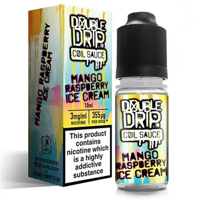 Mango Raspberry Ice Cream E Liquid By Double Drip Coil Sauce 10ml