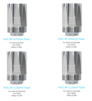 5 Pack Joyetech ProC BF Coil Atomizer Heads
