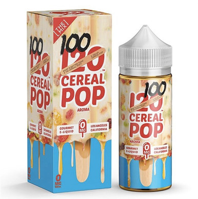 120 Cereal Pop Eliquid 100ml (120ml with 2 x 10ml nicotine shots to make 3mg)  by Mad Hatter Juice Only £19.99 (FREE NICOTINE SHOTS)