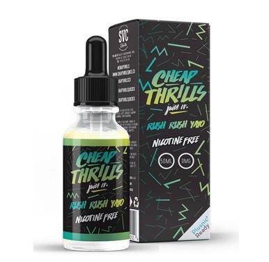 Rush Rush Yayo E Liquid 50ml by Cheap Thrills (60ml/3mg if nicotine shot added) Only £15.99 (FREE NICOTINE SHOT)