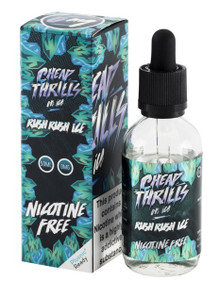 Rush Rush Ice E Liquid 50ml by Cheap Thrills (60ml/3mg if nicotine shot added) inc FREE NICOTINE SHOT