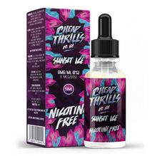 Sunset Ice E Liquid 50ml by Cheap Thrills (60ml/3mg if nicotine shot added) ing FREE NICOTINE SHOT