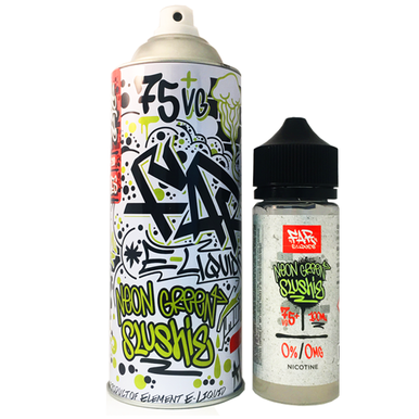 Neon Green Slushie Far Eliquid 100ml (120ml with 2 x 10ml nicotine shots to make 3mg)  by Elements E Liquids Only £25.99 (FREE NICOTINE SHOTS)