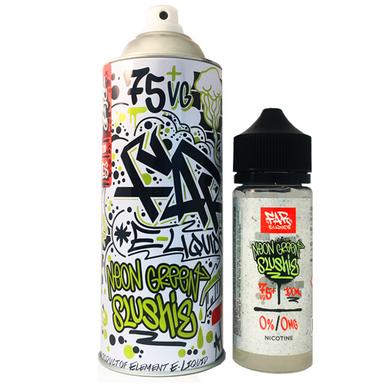 Neon Green Slushie Far Eliquid 100ml (120ml with 2 x 10ml nicotine shots to make 3mg)  by Elements E Liquids Only £25.99 (FREE NICOTINE SHOTS)