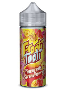 Pineapple Strawberry E Liquid 100ml Shortfill (120ml with 2 x 10ml nicotine shots to make 3mg) by Frooti Tooti E Liquids Only £12.99 (FREE NICOTINE SHOTS)