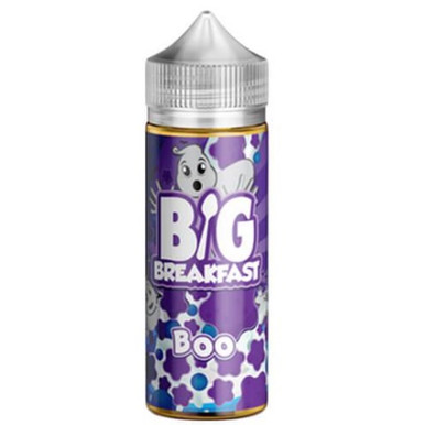Boo E Liquid (120ml Shortfill with 2 x 10ml nicotine shots to make 3mg) by Big Breakfast Only £19.49 (Zero Nicotine)